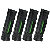 Cool Toner® Compatible HP 85A (CE285A) Black Laser Toner Cartridge for use with HP LaserJet Pro Multifunction Printers - 4 Pack