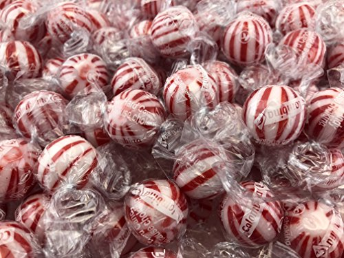 (Jumbo Peppermint Balls Hard Candy Mint Balls, Red Striped (Pack of 2 Pounds))