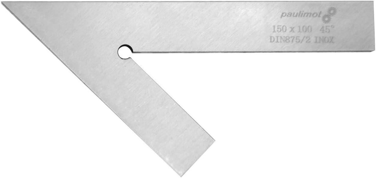 rostfrei INOX DIN 875//2 PAULIMOT Flachwinkel 45/° 150 x 100 mm