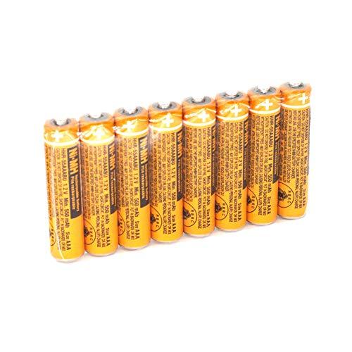 YXZHENG 8pcs HHR-55AAABU AAA Battery for Panasonic Cordless Wireless Phone Telephone Handset DECT 6.0 1.2V 550mAh Rechargeable NI-MH