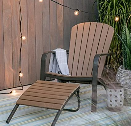 Adirondack Chairs Resin, All Weather And Metal Adirondack Chair With  Ottoman, Patio Deep Seating