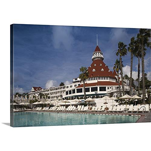 Swimming Pool in a Hotel, Hotel del Coronado, Coronado, San Diego County, California Canvas Wal.