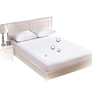 Amazon.com: Funda de cama, impermeable, almohadilla para ...