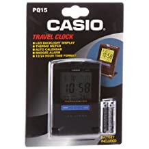 Casio PQ15-1KP Travel Alarm Clock with Thermometer