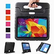 """XKTTSUEERCRR Samsung Galaxy Tab 4 10.1-inch Shockproof Lightweight Kids Adjustable Portable Handheld Drop Protection EVA Tablet Shell Cover Case For Samsung Galaxy Tab 4 10.1""""(SM-T530/SM-T531/SM-T535)-Black"""