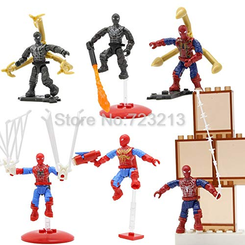 VIET STAR 6Pcs/Lot Super Hero Action Figure Set Movable with Stand Table Multi Joint Rod End Model Doll Toys- Complete Series Merchandise -Multicolor Complete Series Merchandise