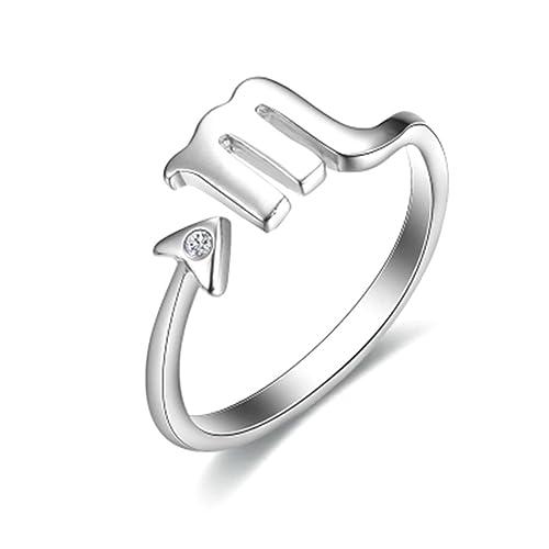 738f8a8640942b Sewanz - Anello da donna in argento sterling, stile aperto semplice,  costellazione dello scorpione