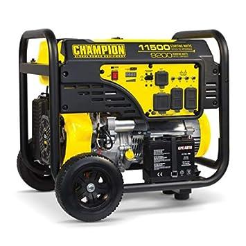 Champion 100110 9200W 11500W Generator 459cc w Wheel Kit