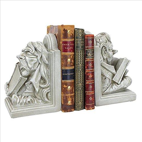 Design Toscano Novelty/Campy/Kitschy Literary Bookworm Sculptural Bookend Pair