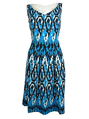 leeveless Vintage Ikat Swing Dress, Capri/Multi, 16 (Anne Klein Capris)