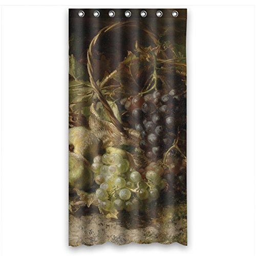 ZEEZON Width X Height / 36 X 72 Inches / W H 90 By 180 Cm Polyester Classic Still Life Art Painting Bathroom Curtains Fabric Is Fit For Girls Valentine Hotel Bf Girls. Healthy