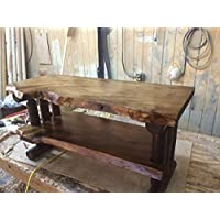 Rustic Log Pine and Cedar Tv Stand Entertainment Center (Honey Pine)