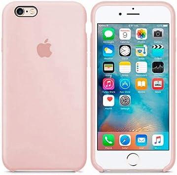 Funda Apple para iPhone 6 iPhone 6s Carcasa Protectora con Logo Original Silicona Suave Gel Protector Ultrafino Textura Antideslizante protección contra Golpes, arañazos y caídas (Rosa Arena): Amazon.es: Electrónica