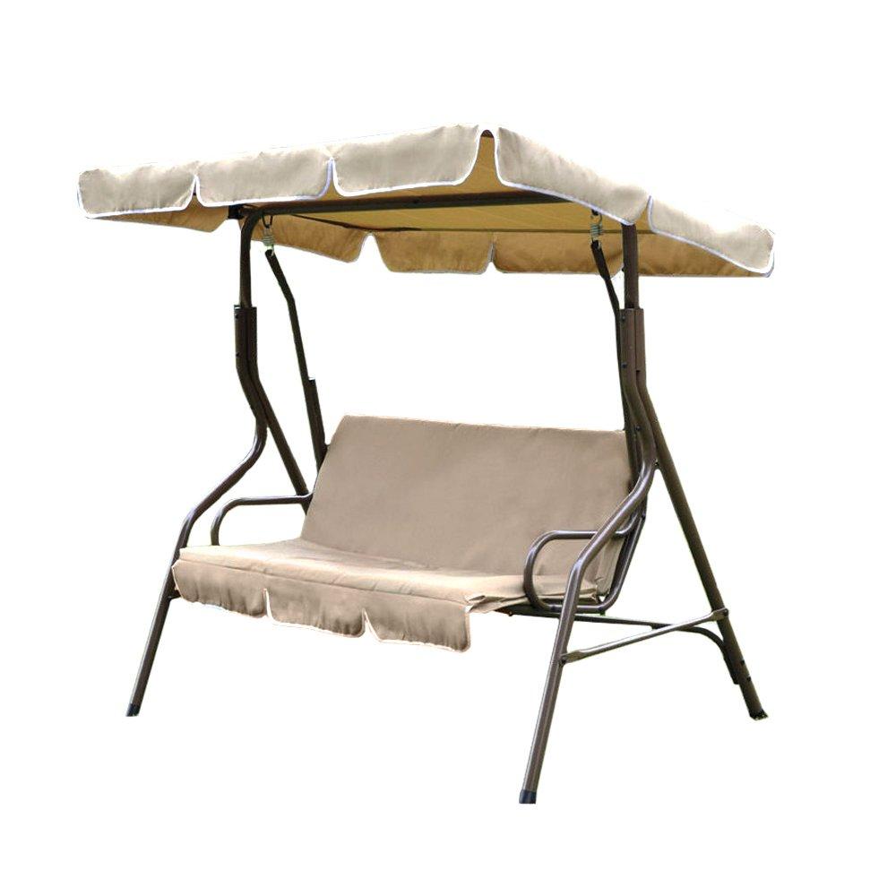 Hollywoodschaukel 3Sitzer C/Dach braun beige Gartenmöbel Relax 780–40m