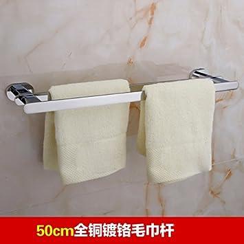 ZXC Bathroom racks El candado en la Barra Doble de Toallas de baño Toallas,50CM: Amazon.es: Hogar
