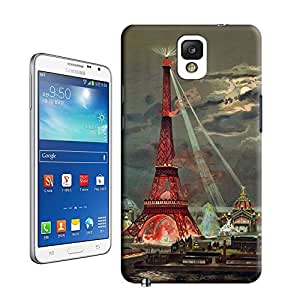 niucase beautiful lights of Eiffel tower picture of TUP new style scratch-proof covers for samsung galaxy note3
