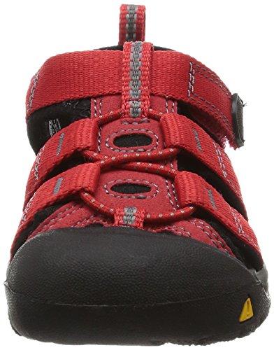 Keen Newport H2, Sandalias de Senderismo Unisex Bebé Rojo (Ribbon Red/Gargoyle)