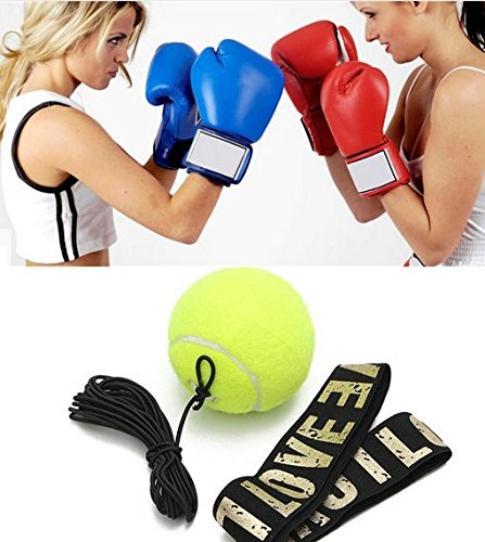 1* Boxing Punch Exercise Fight Ball With Head Band For Reflex Speed Training New