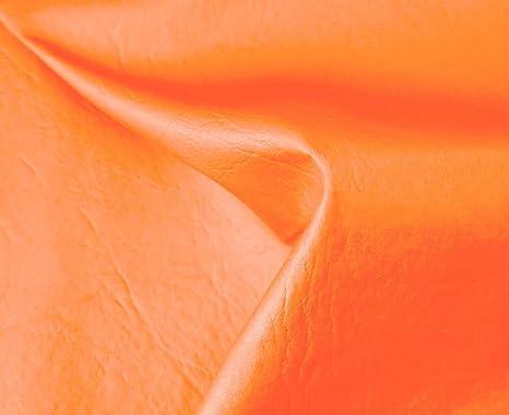 HAPPERS 0,50 Metros de Polipiel para tapizar, Manualidades, Cojines o forrar Objetos. Venta de Polipiel por Metros. Diseño Sugan Color Naranja Ancho ...