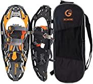 GO2GETHER 21 Inches Light Weight Snowshoes for Women Men Youth Kids, Set with Carrying Tote Bag,Special EVA Pa