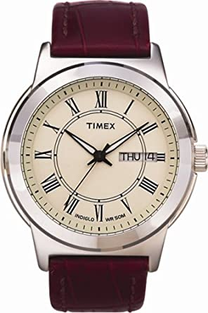 timex classic mens watch cream dial and brown leather strap timex classic mens watch cream dial and brown leather strap t2e581d7pf