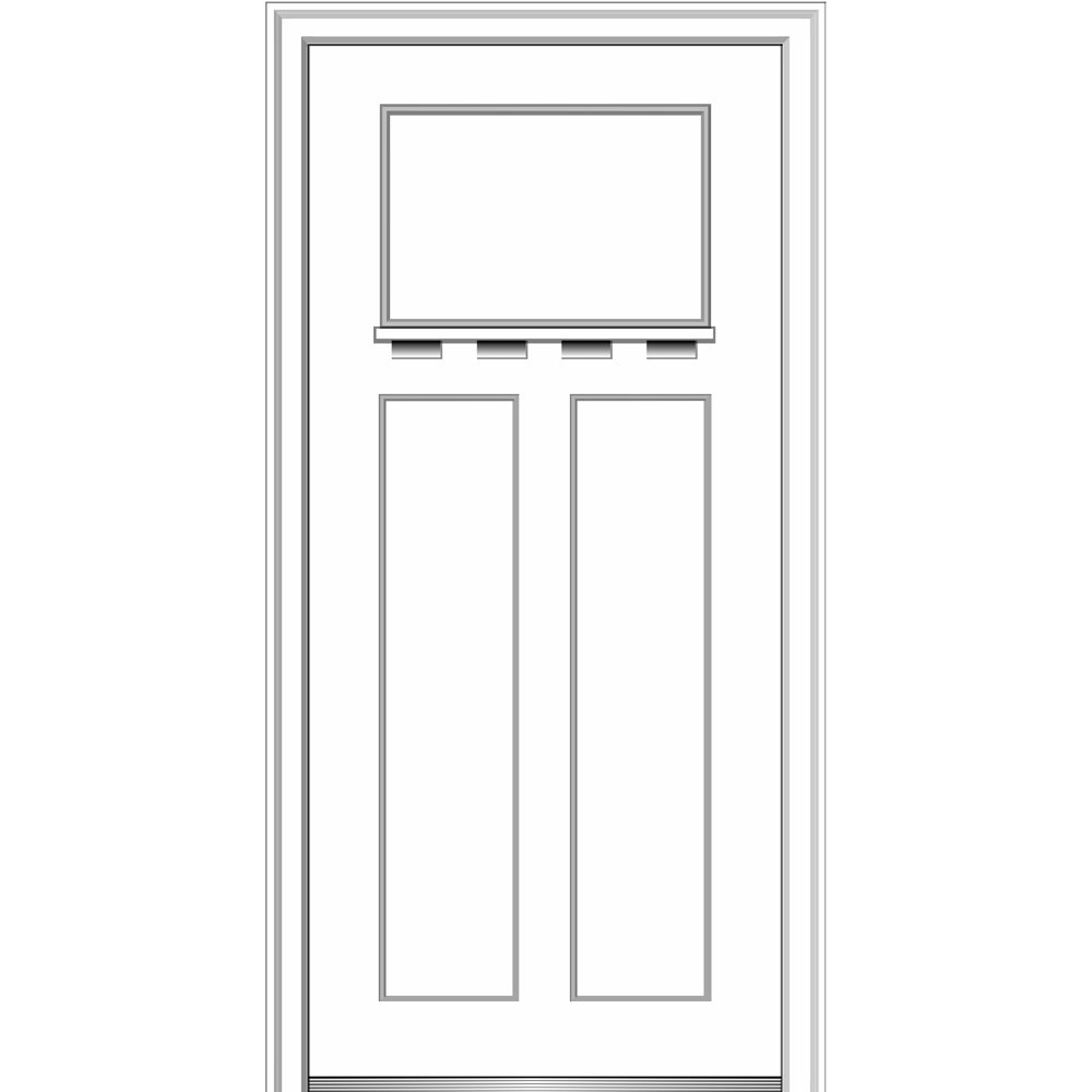 National Door Company Zz28475l Fiberglass Smooth Painted Left Hand Inswing Exterior Prehung Door Craftsman 3 Panel With Shelf 32 X 80 Fiberglass 80 Height Amazon Com Industrial Scientific