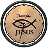 TIME FOR JESUS Wall Clock religious christian catholic christ church gift
