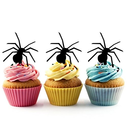TA0502 Spider Halloween Silhouette Party Wedding Birthday Acrylic