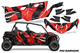 AMR Racing UTV Graphics kit Sticker Decal Compatible with Can-Am Maverick Sport MAX DPS 4-Door 2019 - P-40 Warhawk Red