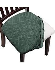 YISUN Chair Seat Covers, Super Fit Stretch Spandex Lattice Jacquard Removable Washable Dining Chair Covers for Hotel Dining Room Ceremony Banquet Wedding Party