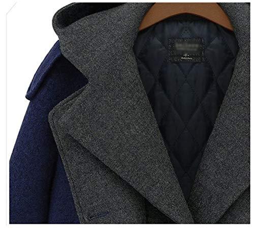Moda Falso Dos Abrigo Invierno Mujer Otoño Lana Largo Salvaje De Engrosamiento E Conjunto 8npxPf