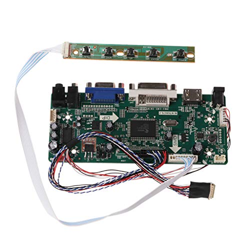 "SEAyaho Controller Board, LCD HDMI DVI VGA Audio PC Module Driver DIY Kit, 15.6"" Display B156XW02 1366X768 1ch 6/8-bit 40 Pin Panel"