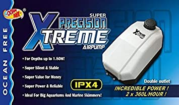 Ocean Free Super Precision Ap3000 Variable Flow Aquarium Fish Tank Air Pump Airpump
