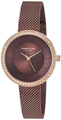 Kenneth Cole New York Women's Quartz Stainless Steel Casual Watch, Color:Brown (Model: KC50198003)