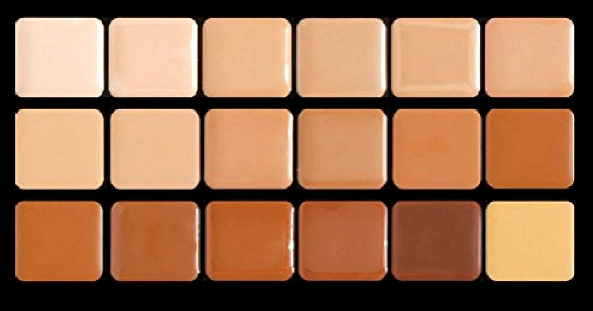 Graftobian Creme Foundation Super Palette Makeup Kit - 18 Warm HD Full Coverage Pigment Concealers for Smooth, Buildable Application and Creaseless Finish by Graftobian