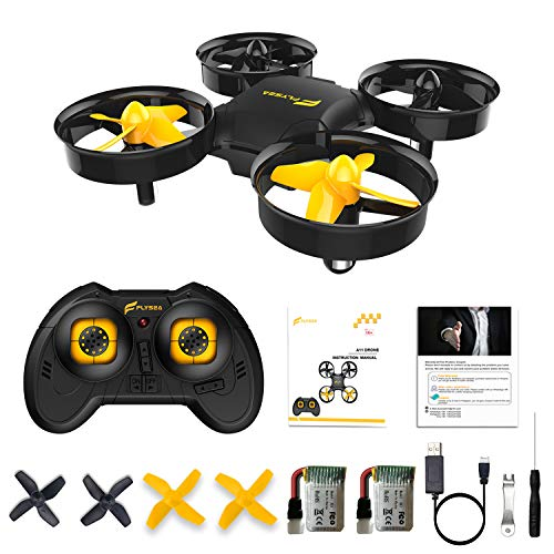 Flysea A11 Mini Drone for Kids/Beginners, RC Nano Quadcopter w/Altitude Hold, 3D Flip, Headless Mode, 2 Batteries, Great Gift/Toys for Boys & Girls, Black