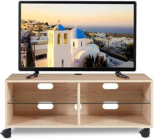 RFIVER Mueble TV Modular con Ruedas de Color Roble 110x40x44 TS5001: Amazon.es: Electrónica