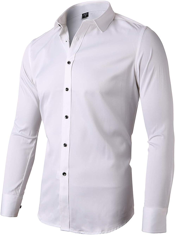 Camisa elástica Hombre, Manga Larga, Slim Fit, Casual/Formal Ambos Disponible y múltiples Colores para Elegir: Amazon.es: Ropa y accesorios