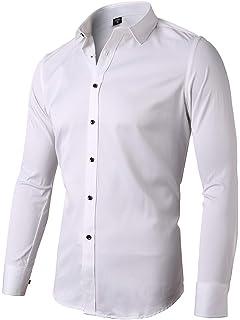 Dress Fashion Sz Casual J Sleeve Formal Men/'s Xmas Fit Shirt Luxury Long Slim