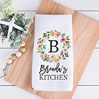 Custom Waffle Weave Dish Towel | Personalized Kitchen Towel | Housewarming Gift | Wedding Gift | Personalized Dish Towel | Housewarming Gift | Friend Birthday Gift
