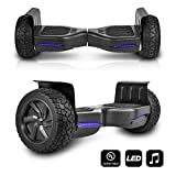 CHO All Terrain Black Rugged 8.5' Inch Wheels Hoverboard Off-Road Smart Self Balancing Electric Scooter LED Lights UL2272 Certified...