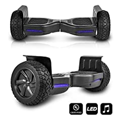 The Self balancing technology of the hoverboard makes it easier and safer for beginners and amateurs. It is easy to learn and maintain balance let you master the art of balancing in minutes. UL 2272 Certified! Specification: Wheels size: 8.5 ...
