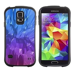 LASTONE PHONE CASE / Suave Silicona Caso Carcasa de Caucho Funda para Samsung Galaxy S5 SM-G900 / Crystal Blue Purple Painting Mineral