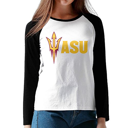 Price comparison product image MULTY9 Arizona State University - ASU Logo Women's Long Sleeve Raglan T-Shirt XXL