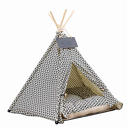 Amazon com: MUJING Pet Teepee Dog & Cat Bed - Portable Dog Tents