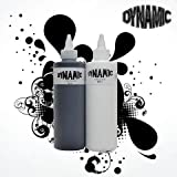 8 oz Dynamic Black & 8 oz Dynamic White Combo Tattoo Ink With Free After inked Pillow Pack
