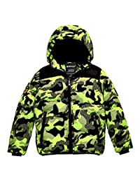Wantdo Boy's Winter Snow Coat Waterproof Thick Padded Ski Jacket with Hood