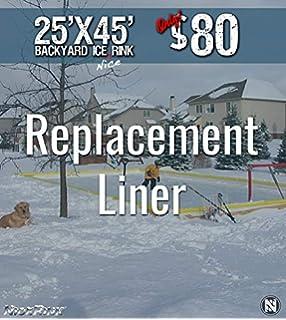 Amazon Com Nicerink 20 X 40 Backyard Ice Rink Kit Hockey Skate