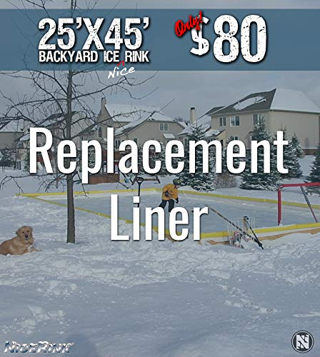 Amazon.com : NiceRink NRCS 25X45 Replacement Backyard ICE Rink Liner :  Sports U0026 Outdoors