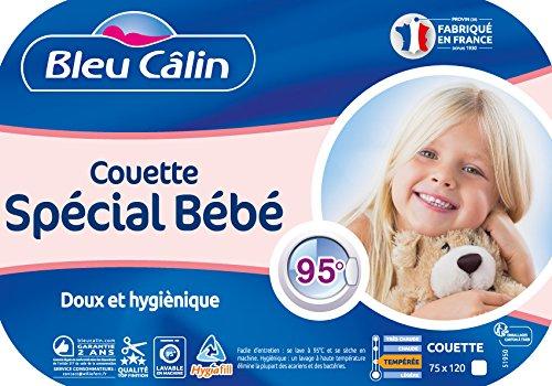 KBOB 75x120 cm Bleu C/âlin Couette Sp/éciale B/éb/é Lavable /à 95/° Blanc